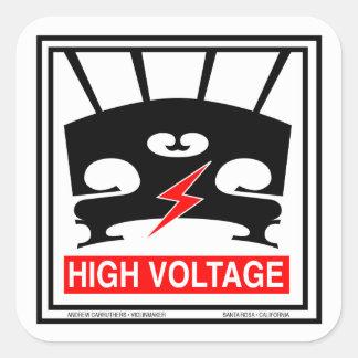 High Voltage Violin Square Sticker