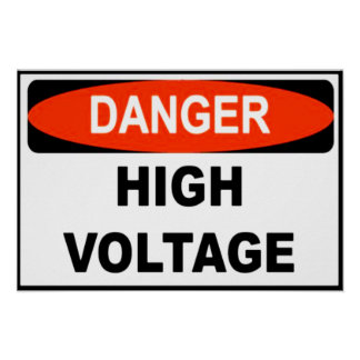 High Voltage Warning Poster