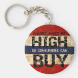 High Wages Key Chain