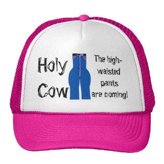 High Waisted Pants Blue Denim Retro Humor Trucker Hat