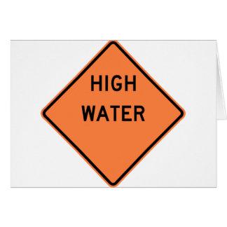 High Water Warning Highway Sign Card