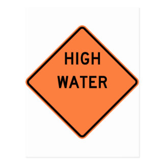High Water Warning Highway Sign Postcard