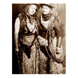 HIgh Western Fashion Postcard