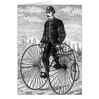 High Wheel Three Wheel Bicycle Trike Stationery Note Card