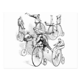 High Wheeled Bicycle Dare Devils postcard