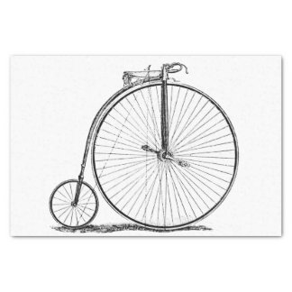 "High Wheeler Victorian Penny Farthing Cycle biking 10"" X 15"" Tissue Paper"