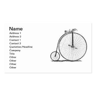 High Wheeler Victorian Penny Farthing Cycle Biking Business Card