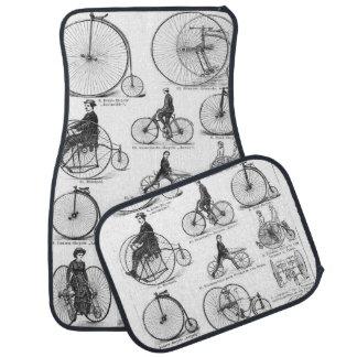 High Wheeler Victorian Penny Farthing Cycle Biking Car Mat