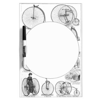 High Wheeler Victorian Penny Farthing Cycle Biking Dry-Erase Board