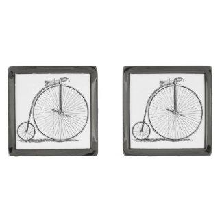 High Wheeler Victorian Penny Farthing Cycle Biking Gunmetal Finish Cufflinks