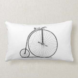 High Wheeler Victorian Penny Farthing Cycle biking Lumbar Pillow