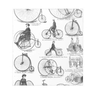 High Wheeler Victorian Penny Farthing Cycle Biking Notepad