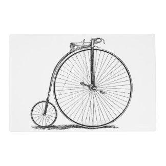High Wheeler Victorian Penny Farthing Cycle biking Laminated Placemat