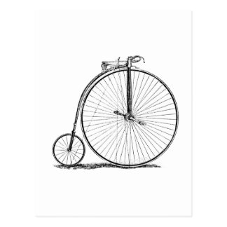 High Wheeler Victorian Penny Farthing Cycle Biking Postcard