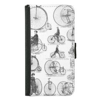 High Wheeler Victorian Penny Farthing Cycle Biking Samsung Galaxy S5 Wallet Case