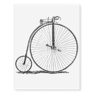High Wheeler Victorian Penny Farthing Cycle Biking Temporary Tattoos