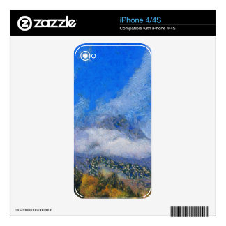 High winds and clouds decals for the iPhone 4