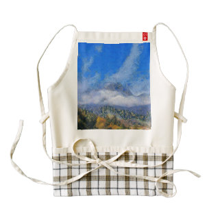 High winds and clouds zazzle HEART apron
