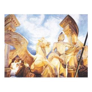 """High Winds"" Caesar's Palace Watercolor Postcard"
