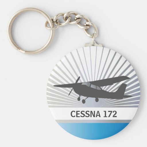 High Wing Aircraft Basic Round Button Keychain