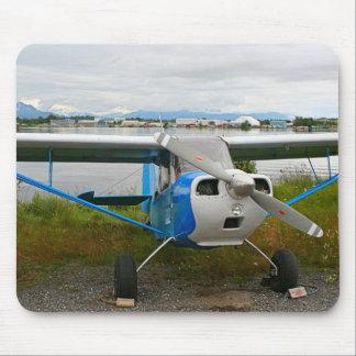 High wing aircraft, blue & white, Alaska Mouse Pad