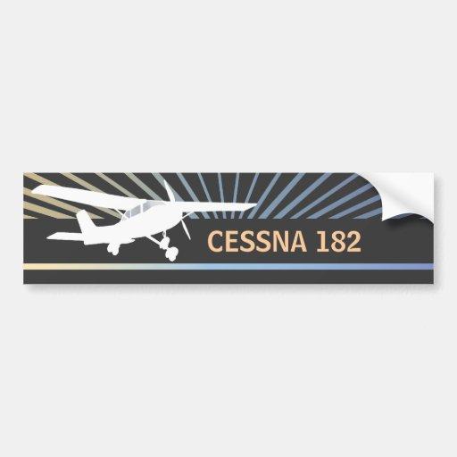 High Wing Aircraft Bumper Sticker