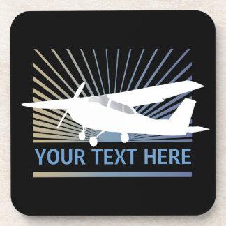 High Wing Aircraft - Custom Text Coaster