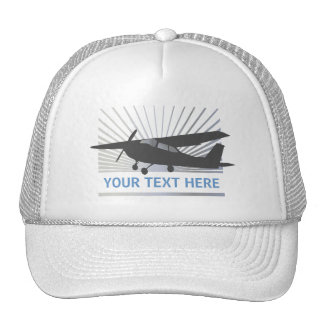 High Wing Aircraft - Custom Text Hat