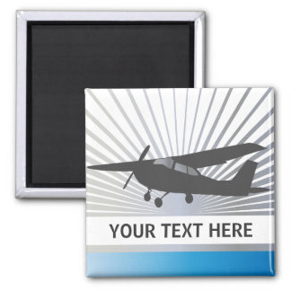 High Wing Aircraft - Custom Text Magnet