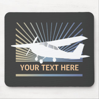 High Wing Aircraft - Custom Text Mouse Pad