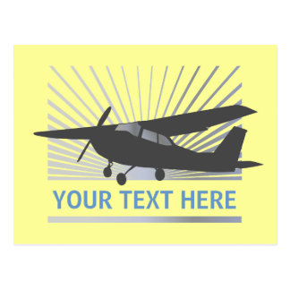 High Wing Aircraft - Custom Text Postcard