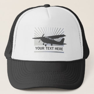 High Wing Aircraft - Custom Text Trucker Hat