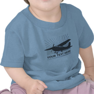 High Wing Aircraft - Custom Text Tee Shirts