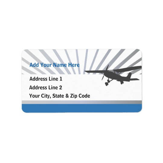 High Wing Aviation Customizable Address Labels
