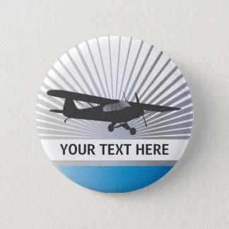 High Wing Taildragger Aircraft Button