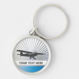 High Wing Taildragger Aircraft Keychain