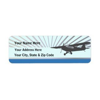 High Wing Taildragger Aircraft Label