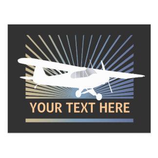 High Wing Taildragger Aircraft Postcard
