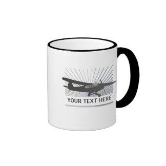 High Wing Taildragger Aircraft Ringer Mug