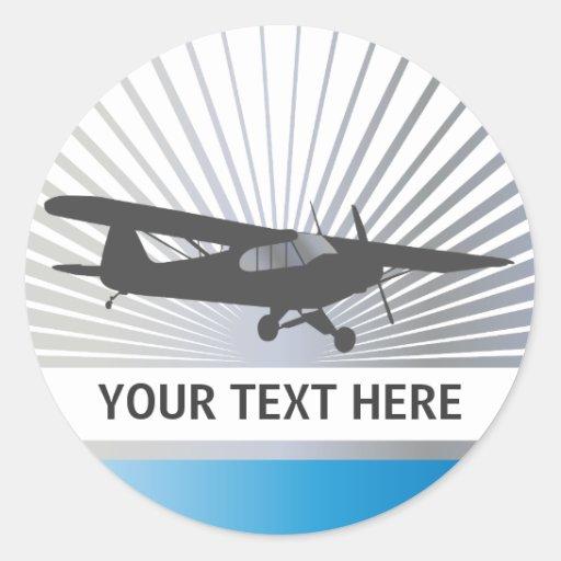 High Wing Taildragger Aircraft Sticker