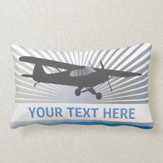 High Wing Taildragger Aircraft Throw Pillows