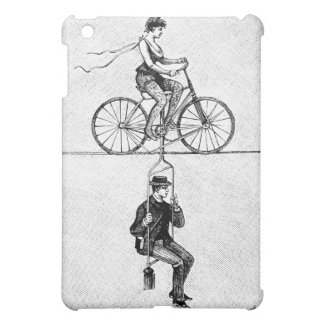 High-wire Bicycle - Vintage Circus Cycling Act iPad Mini Covers