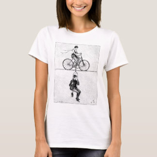 High-wire Bicycle - Vintage Circus Cycling Act T-Shirt