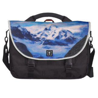 Highand blue night - art bag for laptop