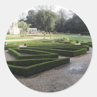 Highcliffe Castle Gardens, Dorset. Classic Round Sticker