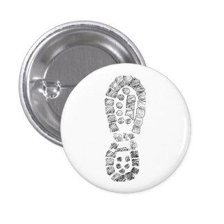 Highcountryhiker's Hiking Boot (logo) Pinback Button