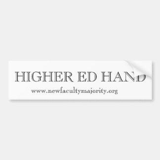 Higher Ed Hand Car Bumper Sticker