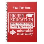 Higher Education humor custom notebook