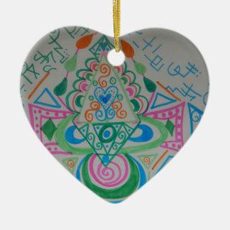 Higher Heart Activation Ceramic Ornament