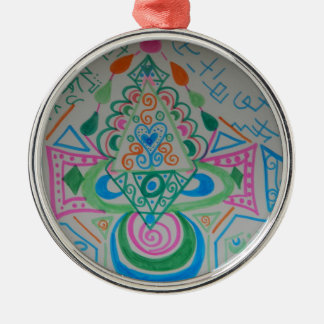 Higher Heart Activation Metal Ornament